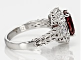 Lab Created Ruby And White Cubic Zirconia Platineve Ring 4.00ctw