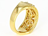 White Cubic Zirconia 18K Yellow Gold Over Sterling Silver Ring 3.47ctw