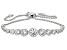 White Cubic Zirconia Platineve Adjustable Bracelet 4.57ctw