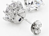 Cubic Zirconia Platineve Earrings 4.57ctw