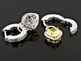 Yellow And White Cubic Zirconia Platineve Earrings 6.07ctw