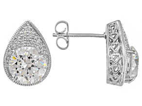 Cubic Zirconia Platineve Stud Earrings 5.98ctw