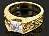 Cubic Zirconia 18k Yellow Gold Over Sterling Silver Ring 2.79ctw