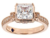 Cubic Zirconia 18k Rose Gold Over Sterling Silver Ring 3.45ctw