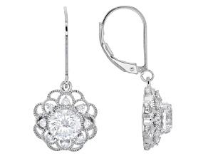 Cubic Zirconia Platineve Earrings 3.10ctw