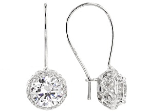 Cubic Zirconia Platineve Earrings 6.28ctw
