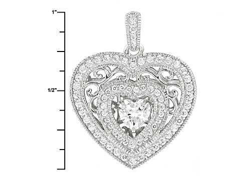 Cubic Zirconia Platineve Dancing Bella Pendant With Chain 3.09ctw