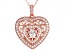 Cubic Zirconia 18k Rose Gold Over Sterling Silver Dancing Bella Pendant With Chain 3.09ctw