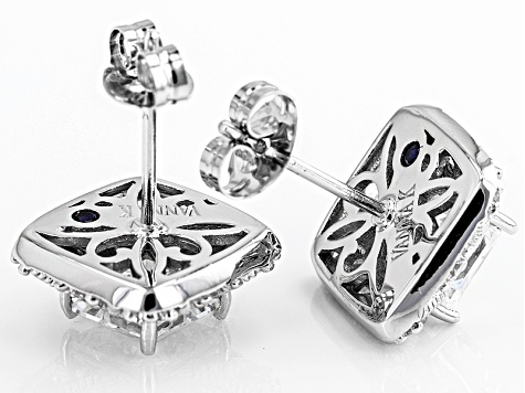 White Cubic Zirconia Platineve Earrings 4.17ctw