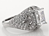 White Cubic Zirconia Platineve Ring 5.20ctw