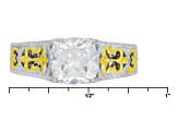 White Cubic Zirconia Platineve And 18k Yg Over Sterling Silver Ring 2.66ctw