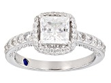White Cubic Zirconia Platineve Ring 2.51ctw