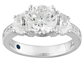 White Cubic Zirconia Platineve Ring 4.79ctw