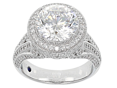White Cubic Zirconia Platineve Ring 7.72ctw