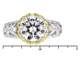 White Cubic Zirconia Platineve And 18k Yg Over Sterling Silver Ring 4.27ctw