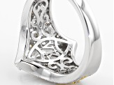 White Cubic Zirconia Platineve An 18k Yg Over Silver Ring 3.28ctw