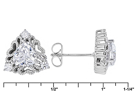 White Cubic Zirconia Platineve Earrings 2.84ctw
