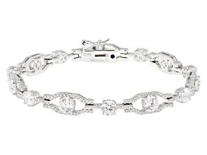White Cubic Zirconia Platineve Bracelet 12.58ctw