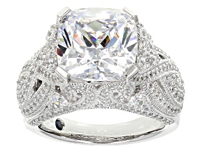 White Cubic Zirconia Platineve Ring 12.39ctw