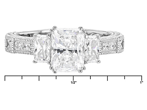 White Cubic Zirconia Platineve Ring 4.26ctw