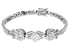White Cubic Zirconia Platineve Bracelet 9.65ctw
