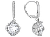 Cubic Zirconia Platineve Earrings 7.06ctw (4.78ctw DEW)