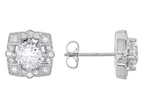 Cubic Zirconia Platineve Earrings 3.11ctw (2.00ctw DEW)