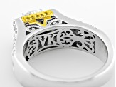 White Cubic Zirconia Platineve And 18k Yg Over Sterling Silver Ring 3.56ctw