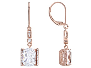 Cubic Zirconia 18k Rose Gold Over Silver 10.77ctw (7.77ctw DEW)