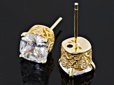 Cubic Zirconia 18k Yellow Gold Over Silver Earrings 5.21ctw (3.96ctw DEW)