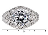 White Cubic Zirconia Platineve Ring 7.78ctw