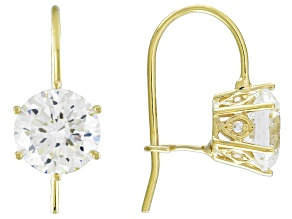 Cubic Zirconia 10k Yellow Gold Earrings 4.63ctw (2.62ctw DEW)