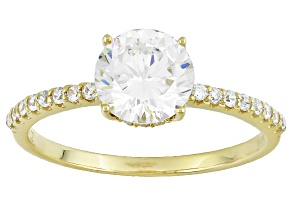 Cubic Zirconia 10k Yellow Gold Ring 2.63ctw (1.52ctw DEW)