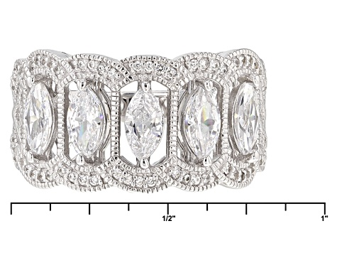 White Cubic Zirconia Platineve Ring 2.17ctw