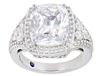 Picture of White Cubic Zirconia Platineve Ring 10.14ctw