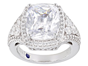 White Cubic Zirconia Platineve Ring 10.14ctw