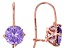 Lavender And White Cubic Zirconia 18k Rose Gold Over Sterling Silver Earrings 4.60ctw