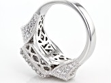White Cubic Zirconia Platineve Ring 4.41ctw