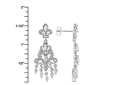 White Cubic Zirconia Platineve Earrings 2.07ctw