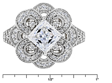 White Cubic Zirconia Platineve Ring 3.51ctw
