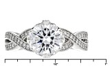 White Cubic Zirconia Platineve Ring 3.43ctw
