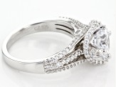 White Cubic Zirconia Platineve Ring 3.99ctw