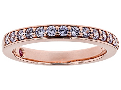 Purple Cubic Zirconia 18k Rose Gold Over Sterling Silver Ring .77ctw