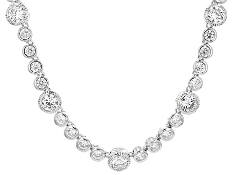 White Cubic Zirconia Platineve Necklace 23.96ctw
