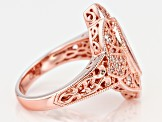 White Cubic Zirconia 18k Rose Gold Over Sterling Silver Ring 3.24ctw