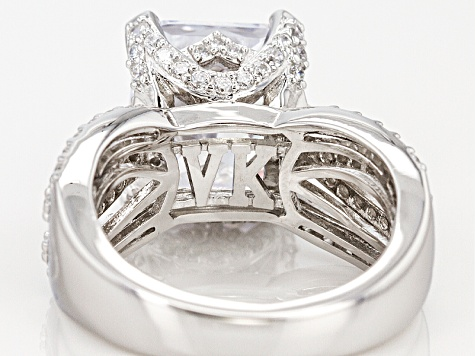 White Cubic Zirconia Platineve Ring 12.91ctw