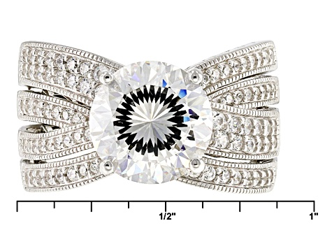 White Cubic Zirconia Platineve Ring 7.68ctw