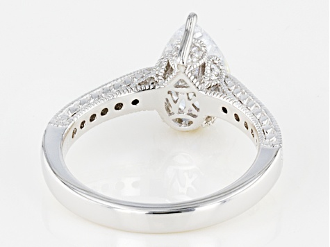 White Cubic Zirconia Platineve Ring 3.41ctw