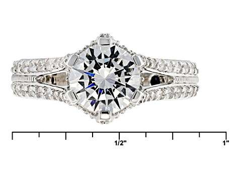 White Cubic Zirconia Platineve Ring 4.20ctw