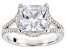 White Cubic Zirconia Platineve Ring 6.32ctw
